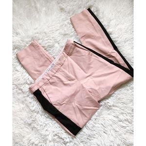 BODEN rose pink skinny pants with black stripe